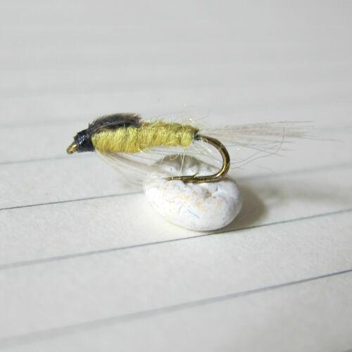 3 Mouche pêche truite Nymphe Eau Claire Pesca Mosca Ninfas Pale Watery H  14 16