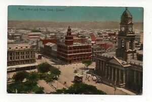 POST-OFFICE-AND-NATAL-BANK-DURBAN-POSTCARD-SENT-TO-MELBOURNE-ON-23-OCT-1910