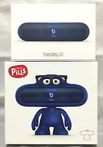 Beats Pill Bluetooth Wireless mini Speaker with Blue Dude Stand