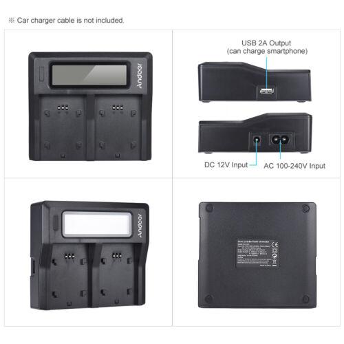 Andoer DMW-BLF19E DC Cargador Batería Cámara Para Panasonic DMC-GH3//3K DC T3Q5