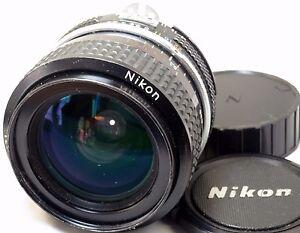 Nikon-Nikkor-28mm-F2-8-AI-Lens-manual-focus-prime-scratched