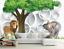 3D Tier Baum Karikatur 67 Tapete Tapeten Mauer Foto Familie Tapete Wandgemälde