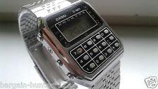 Vintage Casio C 801 Herren Uhr Taschenrechner Calculator LCD