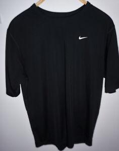Dettagli su T Shirt Nike Nera Tessuto Tecnico Tg M