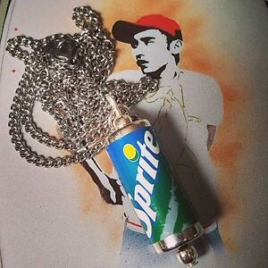 Cool SPRITE CAN NECKLACE novelty RETRO fizzy drink MINIATURE cute MIXED UP DOLLY