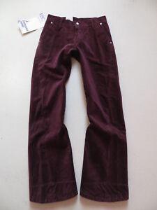 Levi-039-s-006-Engineered-Cord-Jeans-Hose-W-28-L-30-rotbraun-034-Verdreht-034-NEU
