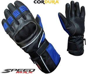 Bleu-Vitesse-Max-Hommes-Haut-Qualite-Moto-Moto-Motocross-Gants-Textile