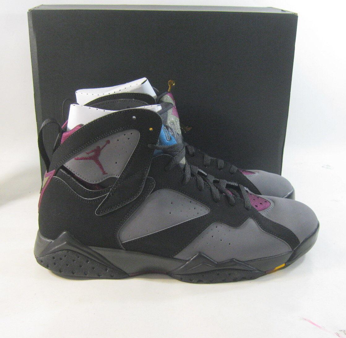 Air Jordan Retro 7 Basketball Shoes 304775 034 Black/Bordeaux Size 13