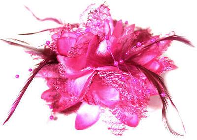 Pince à Cheveux Barrette Fleurs Tissu Accessoire bibi Fleur bande