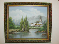 Vintage Oil Painting On Canvas / Board , Signed By Berta