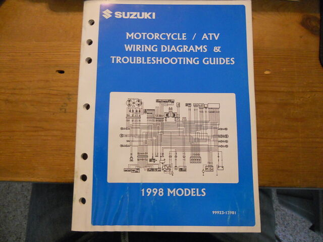 Suzuki Atv Motorcycle Wiring Diagrams 1998 Models