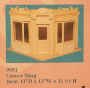 Corner-Shop-Kit-Houseworks-9991-Unvollendet-Holz-1-12-Masstab-Puppenhaus