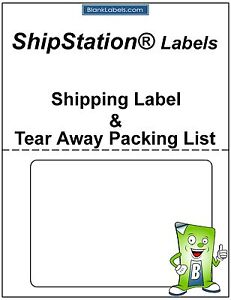 Details about 100 Laser / Ink Jet Labels for ShipStation with Tear Off  Receipt / Packing List!