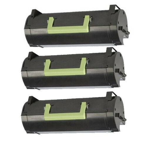3 toner for Lexmark MS310 MS410 MS 510 MS610 50F1H00 50F1000 501H 5000 pages