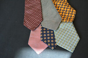 Lot-of-6-TOMMY-HILFIGER-Neckties-incredibly-cheap-price-Grab-it