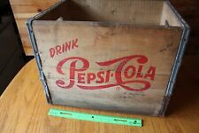 Pepsi Cola Soda Bottle Crate wooden Vintage Mohawk Beverages Pittsfield Mass Pop