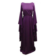 Jerry Melitz Israel 1970s Purple Jersey Dress with Huge Draped Sleeves XS/S