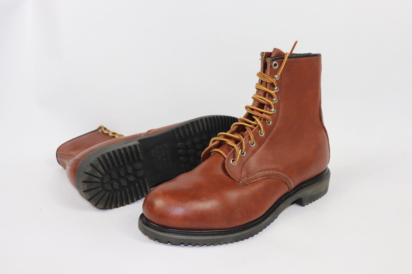 Ala roja Vintage Nuevo Zapatos para hombre 11 D 4412 aislado Cuero Puntera De Acero botas De Trabajo