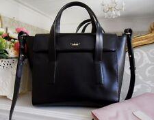 *Pristine* Radley Elgin Avenue Black Leather Flap Over Multiway Grab Bag RP £189