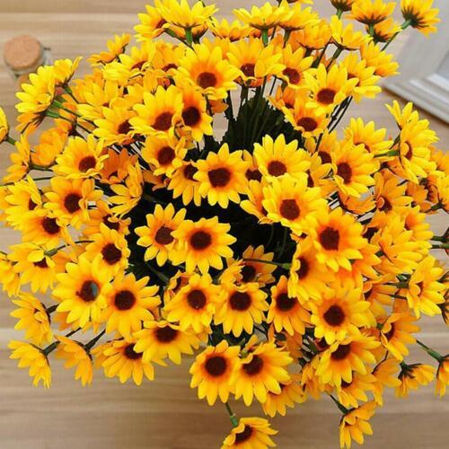 Wedding Decor 2 bunches Bouquet  Fake Sunflower Silk Flower Artificial Home