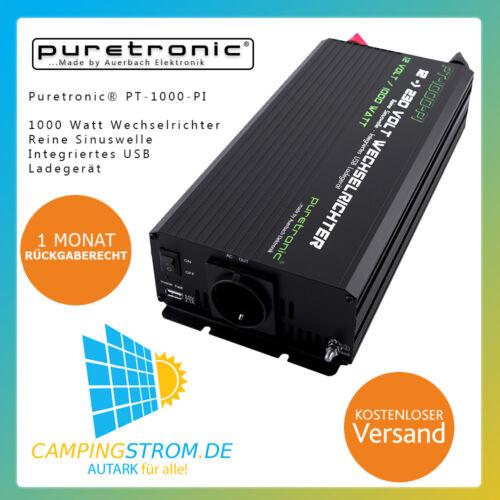 Puretronic ® pt-1000-pi 1000 W PUR SINUS Onduleur/Inverter avec USB