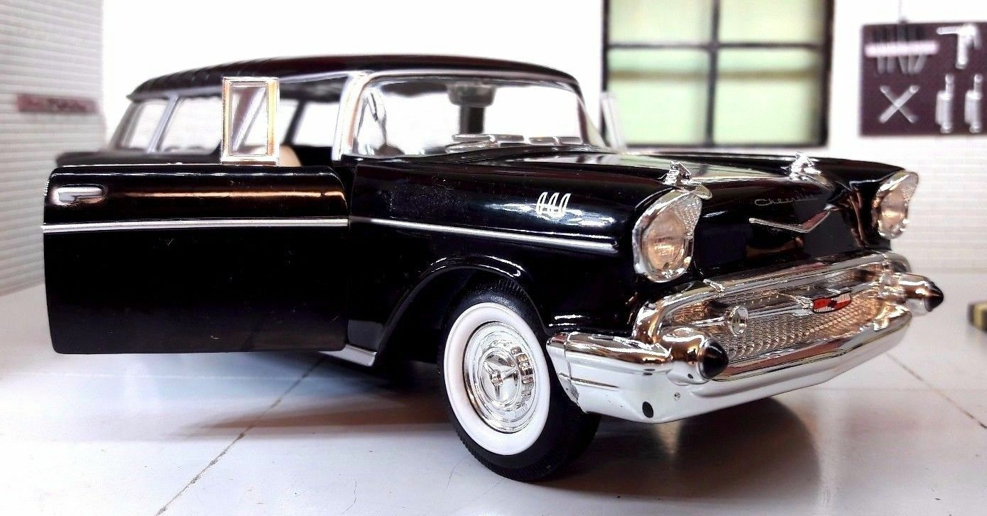 1 24 Echelle 1957 Chevrolet Chevy Bel Air Nomad Domaine Road Signature