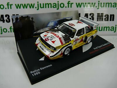 RMC10M voiture 1//43 IXO Altaya Rallye  AUDI quattro sport E2 San Remo 1985 RÖHRL