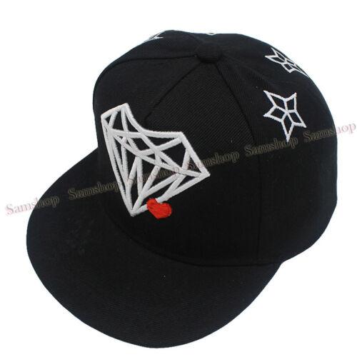 Summer Kids Boys Girls Diamond Baseball Cap Embroidery Snapbacks Hats Gift