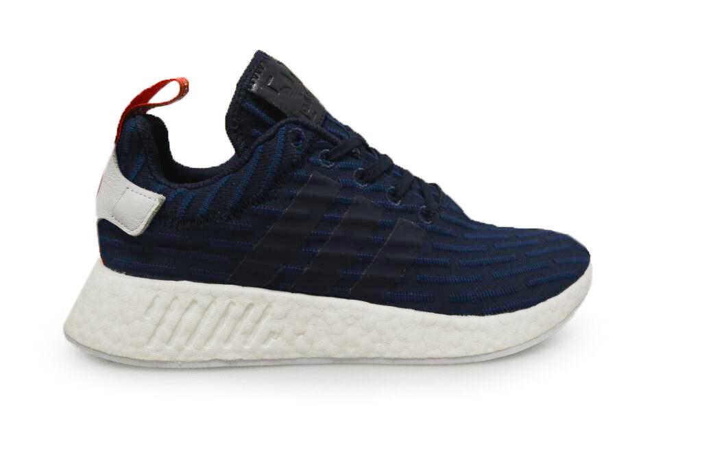 Herren Adidas NMD_R2 Packung - bb2952 - Blau Weiß Rot Turnschuhe