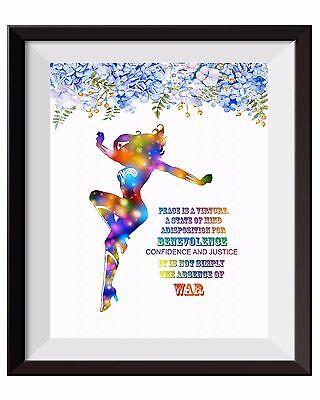 Uhomate Wonder Woman Poster Inspiratation Quotes Print Nursery Wall Decor C103