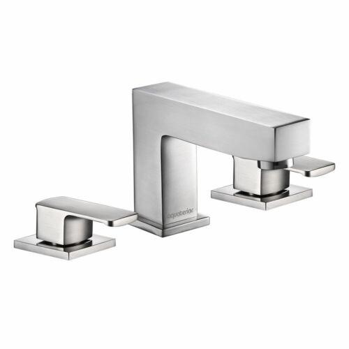 """Adjustable Temperature Bathroom Basin Faucet Vanity Sink 8/"""" 2 Handle 3-Hole"""