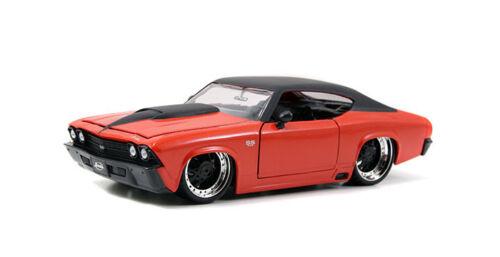 1969 Chevy Chevelle SS Orange ATOMIC CERCHI 1:24 Jada Toys 90056 CHEVROLET rims