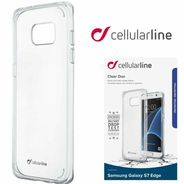 Cellularline Samsung S7 Edge Case Clear Duo Ultra Thin Transparent Hard