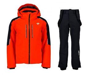 DESCENTE-CHALLENGER-Ski-Jacket-ROSCOE-Ski-Salopette-Completo-Uomo-Sci-DWMOGK62
