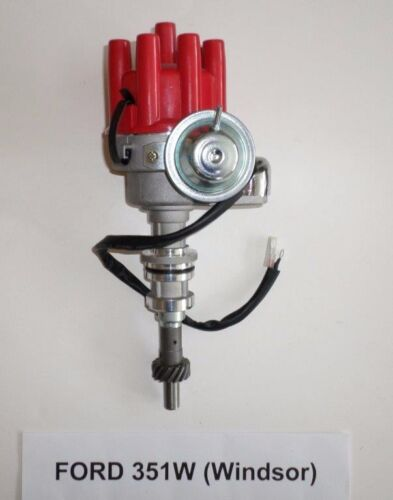 Small Block FORD 351W RED Female Small Cap HEI Distributor ELECTRONIC WINDSOR