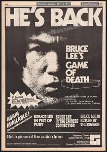 GAME OF DEATH__Original 1979 Trade AD promo / poster__BRUCE LEE__Golden Harvest