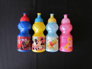 Disney-Kinder-Trinkflasche-Sportflasche-Cars-Princess-Pooh-Micky-Maus-350-ml