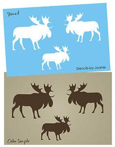 Animal Stencil Canada Moose Rustic Lodge Cabin Outdoor Primitive Craft Art Signs
