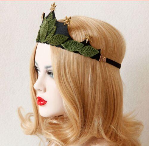 Halloween Leaf Elven Fairy Headband Crown Mother Earth Bohemian Queen Cosplay