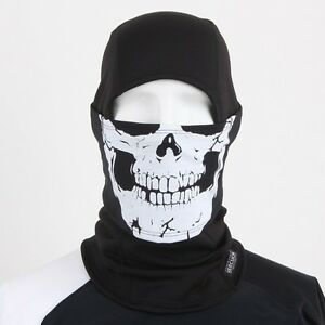 Skull Balaclava WINDMASK under helmet Motorcycle Ski Neck Warmer FACE FULL MASK