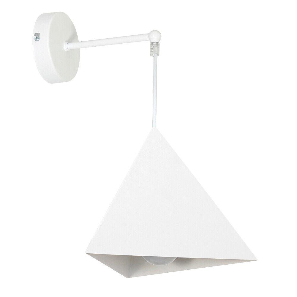 Elegante moderne Wandleuchte E27 Weiß Wand Leuchte Wandlampe innen Esstisch NEU | Feinbearbeitung
