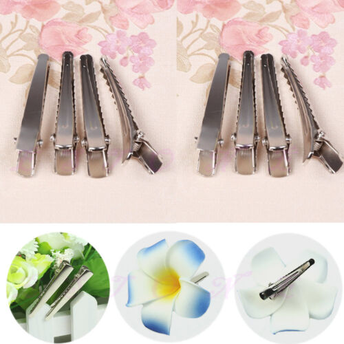 New 10 20 50 100 pcs Metal Single Prong Alligator Bow Hair Clips 44mm