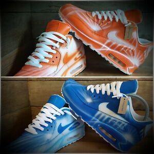 nike air max 90 blue orange Weiß