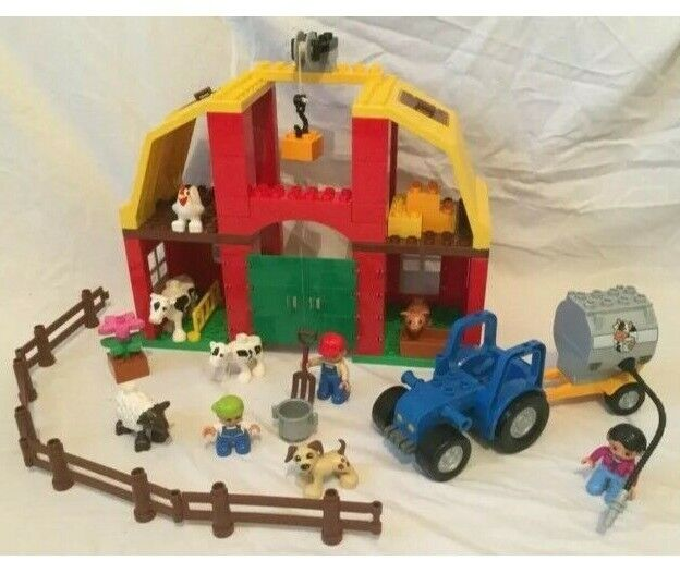 100% COMPLETE LEGO DUPLO BIG FARM PLAY SET 5649 TRACTOR ANIMALS FIGURES LOADS
