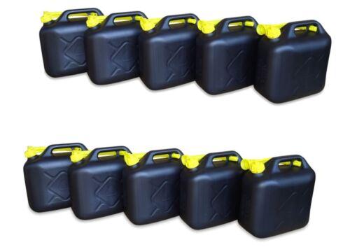 10 x 10 L Kraftstoffkanister Benzin Diesel Kanister Reservetank UN-Nummer schwar