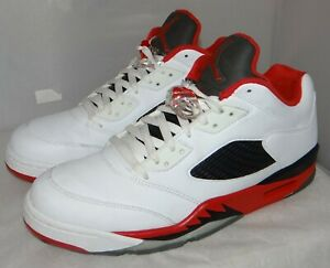 release date: 189f3 d34e2 Details about Low Jordan 5 Fire Red Size 11.5 819171 101 #5077