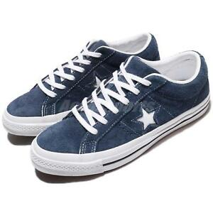 Converse One Star Suede Navy Blue White Men Skate Boarding Shoes ... 8adef4d9da98