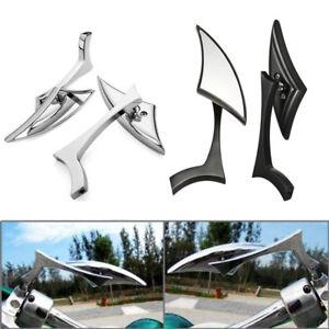 Blade Motorcycle Rearview Side Mirrors For Honda Kawasaki Suzuki Harley Yamaha