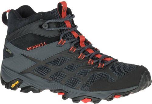 Black Merrell Moab FST 2 Mid GTX Mens Walking Boots