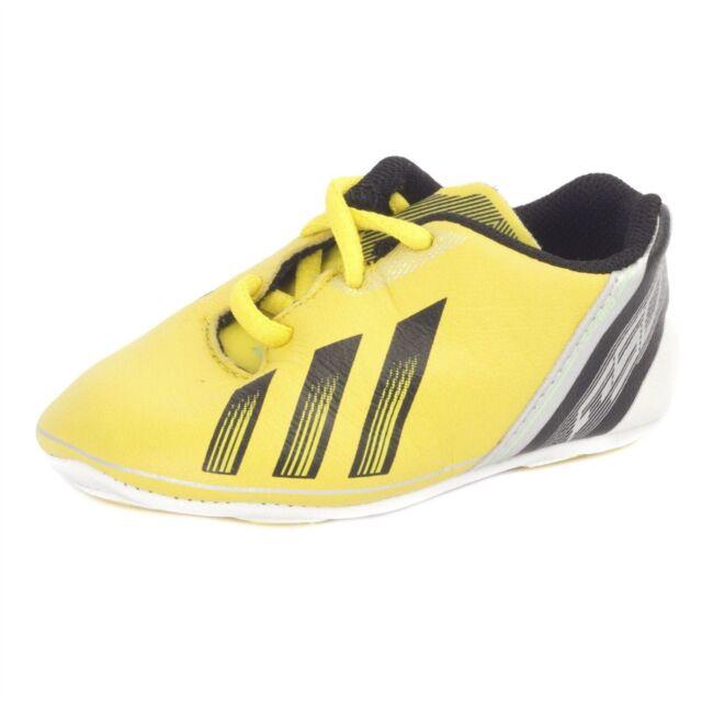 4378321398432 Adidas New Born F50 Adizero Crib Lace Up Football Trainers Shoes Yellow    Black